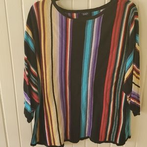 Chaps 3/4 sleeves sweater size 2x euc